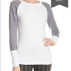 French Connection Raglan colorblock sweater